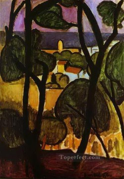 fauvism - View of Collioure 1908 abstract fauvism Henri Matisse