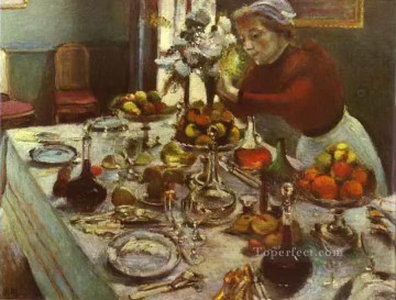 Dinner Table 1897 abstract fauvism Henri Matisse Oil Paintings