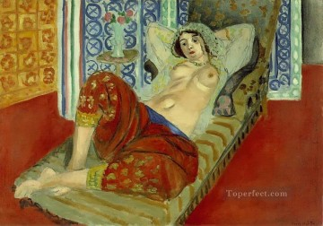 fauvism - Odalisque with Red Culottes nude 1921 abstract fauvism Henri Matisse