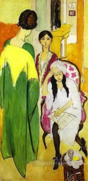 fauvism - Three Sisters Triptych 2 abstract fauvism Henri Matisse
