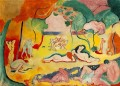 Le bonheur de vivre The Joy of Life abstract fauvism Henri Matisse