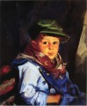 Boy with a Green Cap aka Chico portrait Ashcan School Robert Henri
