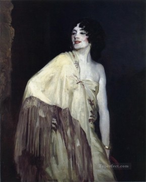 Henri Robert Painting - Dancer in a Yellow Shawl portrait Ashcan School Robert Henri