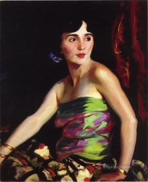 Henri Robert Painting - Isolina Maldonado Spanish Dancer portrait Ashcan School Robert Henri