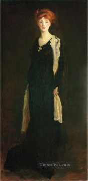 aka - O in Black with Scarf aka Marjorie Organ Henri portrait Ashcan School Robert Henri