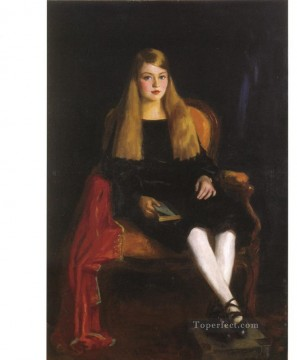 Henri Robert Painting - Portrait of Anne M Tucker Ashcan School Robert Henri