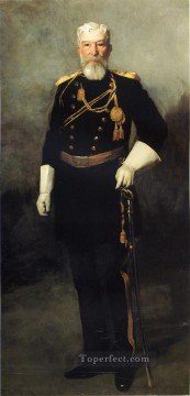 Henri Robert Painting - Portrait of Colonel David Perry 9th U S Cavalry Ashcan School Robert Henri