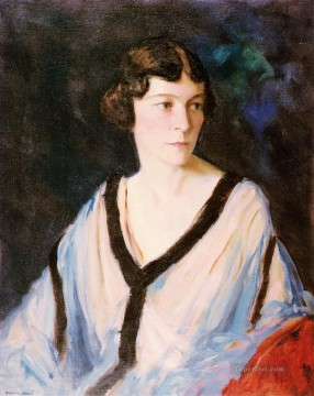 Henri Robert Painting - Portrait of Mrs Edward H Bennett Ashcan School Robert Henri
