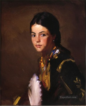Henri Robert Painting - Segovian Girl portrait Ashcan School Robert Henri
