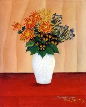 post impressionist Painting - Bouquet of Flowers Bouquet de fleurs Henri Rousseau Post Impressionism Naive Primitivism