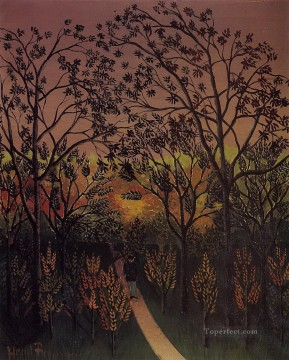 corner of the plateau of bellevue 1902 Henri Rousseau Post Impressionism Naive Primitivism Oil Paintings