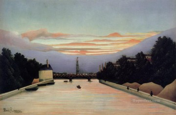 post impressionist Painting - La tour Eiffel Tower in Paris Henri Rousseau Post Impressionism Naive Primitivism