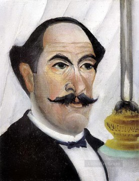 Henri Rousseau Painting - Self portrait of the Artist with a Lamp Henri Rousseau Post Impressionism Naive Primitivism