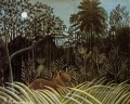 jungle with lion 1910 Henri Rousseau Post Impressionism Naive Primitivism