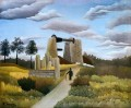 the quarry Henri Rousseau Post Impressionism Naive Primitivism