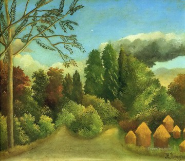 Henri Rousseau Painting - view of the banks of the oise 1906 Henri Rousseau Post Impressionism Naive Primitivism