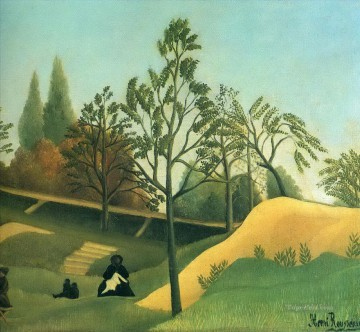 Henri Rousseau Painting - view of the fortifications Henri Rousseau Post Impressionism Naive Primitivism