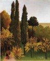 walking in the parc des buttes chaumont 1909 Henri Rousseau Post Impressionism Naive Primitivism