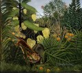 Combat of a Tiger and a Buffalo Henri Rousseau Post Impressionism Naive Primitivism