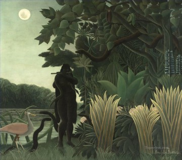 post impressionist Painting - The Snake Charmer La Charmeuse de serpents Henri Rousseau Post Impressionism Naive Primitivism