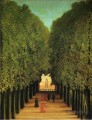 alleyway in the park of saint cloud 1908 Henri Rousseau Post Impressionism Naive Primitivism