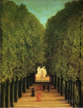 Henri Rousseau Painting - alleyway in the park of saint cloud 1908 Henri Rousseau Post Impressionism Naive Primitivism