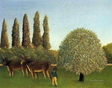 Henri Rousseau Painting - in the fields 1910 Henri Rousseau Post Impressionism Naive Primitivism
