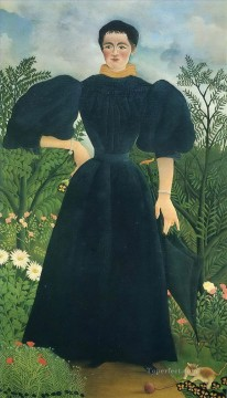 portrait of a woman Henri Rousseau Post Impressionism Naive Primitivism Oil Paintings