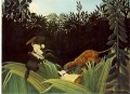scout attacked by a tiger 1904 Henri Rousseau Post Impressionism Naive Primitivism
