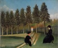 the artist painting his wife 1905 Henri Rousseau Post Impressionism Naive Primitivism