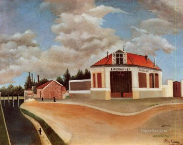 Henri Rousseau Painting - the chair factory at alfortville 1 Henri Rousseau Post Impressionism Naive Primitivism
