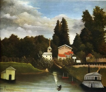 Henri Rousseau Painting - the mill at alfor 1905 Henri Rousseau Post Impressionism Naive Primitivism