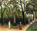 the monument to chopin in the luxembourg gardens 1909 Henri Rousseau Post Impressionism Naive Primitivism
