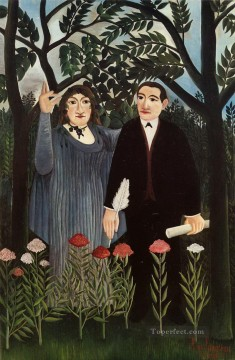 the muse inspiring the poet 1909 1 Henri Rousseau Post Impressionism Naive Primitivism Oil Paintings