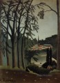 view of saint cloud 1909 Henri Rousseau Post Impressionism Naive Primitivism