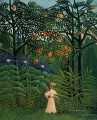 woman walking in an exotic forest 1905 Henri Rousseau Post Impressionism Naive Primitivism