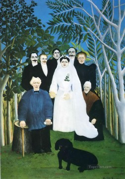 post impressionist Painting - the wedding party Henri Rousseau Post Impressionism Naive Primitivism