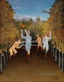The Football Players Henri Rousseau Post Impressionism Naive Primitivism