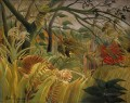 Tiger in a Tropical Storm Surprised Henri Rousseau Post Impressionism Naive Primitivism