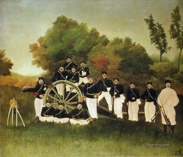 the artillerymen 1893 Henri Rousseau Post Impressionism Naive Primitivism Oil Paintings