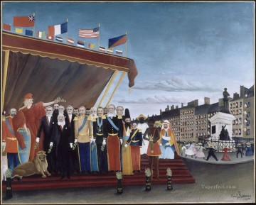 Henri Rousseau Painting - the representatives of foreign powers coming to salute the republic as a sign of peace 1907 1  Henri Rousseau Post Impressionism Naive Primitivism