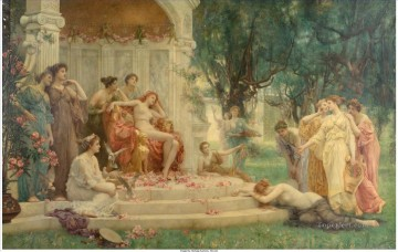 victorian victoria Painting - Psyche Before the Throne of Venus Henrietta Rae Victorian female painter