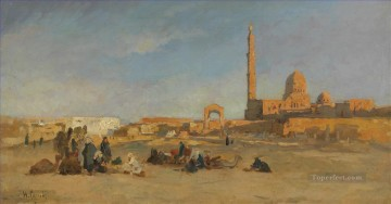 blick auf die kalifengr ber von kairo Hermann David Salomon Corrodi orientalist scenery Oil Paintings