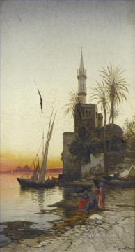 Hermann David Salomon Corrodi Painting - on the banks of the nile 1 Hermann David Salomon Corrodi orientalist scenery