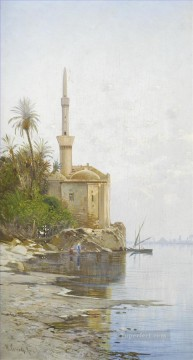 Hermann David Salomon Corrodi Painting - on the banks of the nile 2 Hermann David Salomon Corrodi orientalist scenery