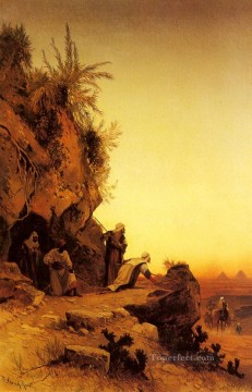 Hermann David Salomon Corrodi Painting - ambush Arabian Hermann David Salomon Corrodi orientalist scenery
