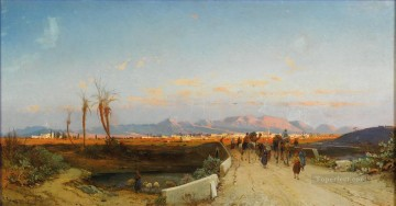 Hermann David Salomon Corrodi Painting - nicosia Hermann David Salomon Corrodi orientalist scenery