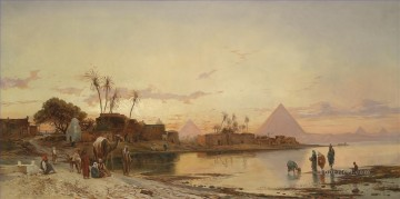 Hermann David Salomon Corrodi Painting - am nilufer Hermann David Salomon Corrodi orientalist scenery
