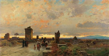 Hermann David Salomon Corrodi Painting - via appia antica Hermann David Salomon Corrodi orientalist scenery