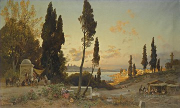 Hermann David Salomon Corrodi Painting - vista sul bosforo costantinopoli Hermann David Salomon Corrodi orientalist scenery